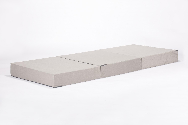 Gigapur Visco Luxus Klappmatratze für Erwachsene mit Housse Pfeffer und Salz