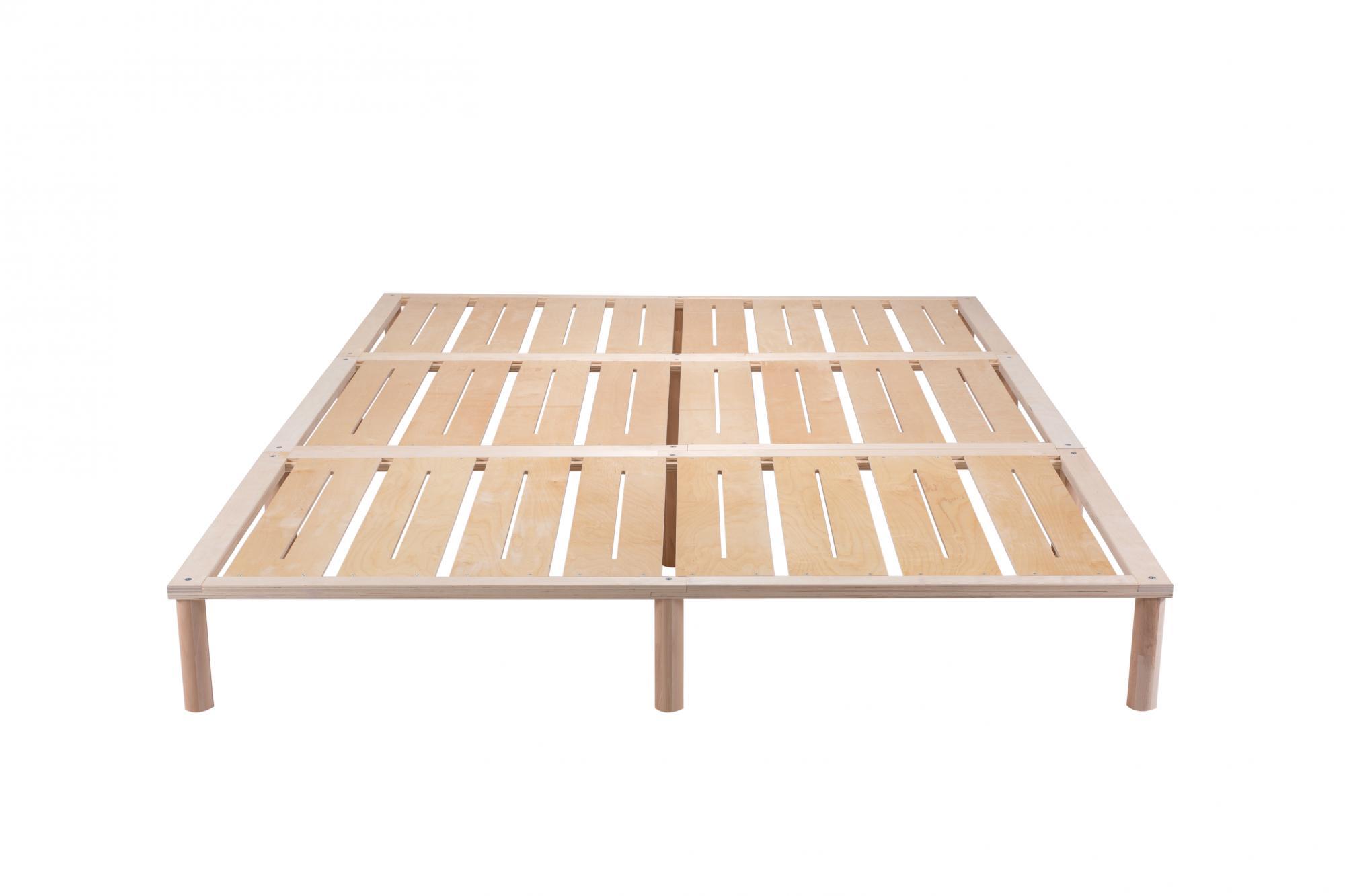 Gigapur G1 29784 Bett | Co-Sleeping | Birke Natur Schicht-Holz | Bettrahmen belastbar bis 195 kg | 280 x 200 cm (2 x 90 x 200 cm + 1 x 100 x 200 cm)