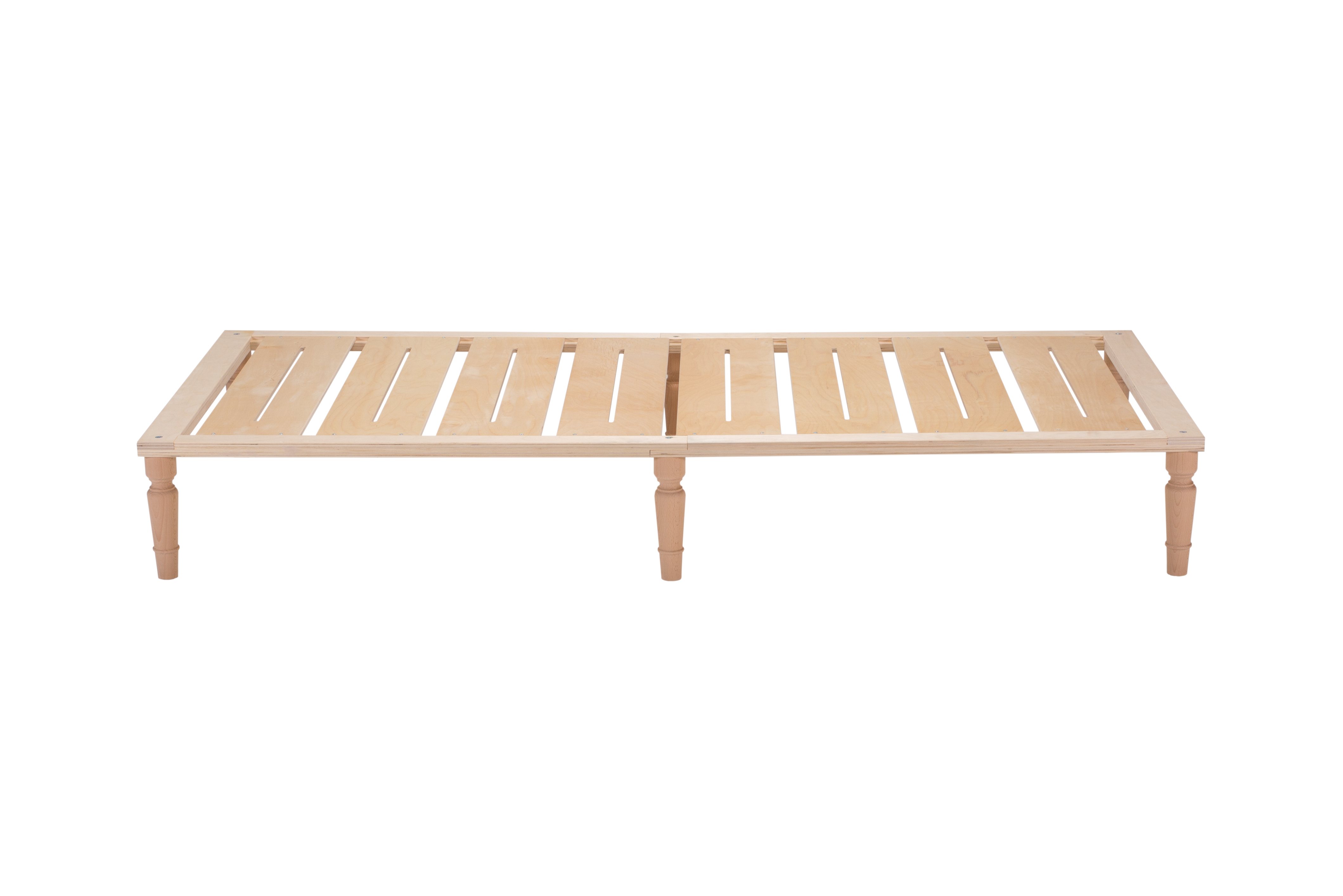 Gigapur 6-er Set 20019 Möbelfüße für Bettgestell G1 | Buche massiv | Höhe 25cm | Durchmesser ca. 6cm