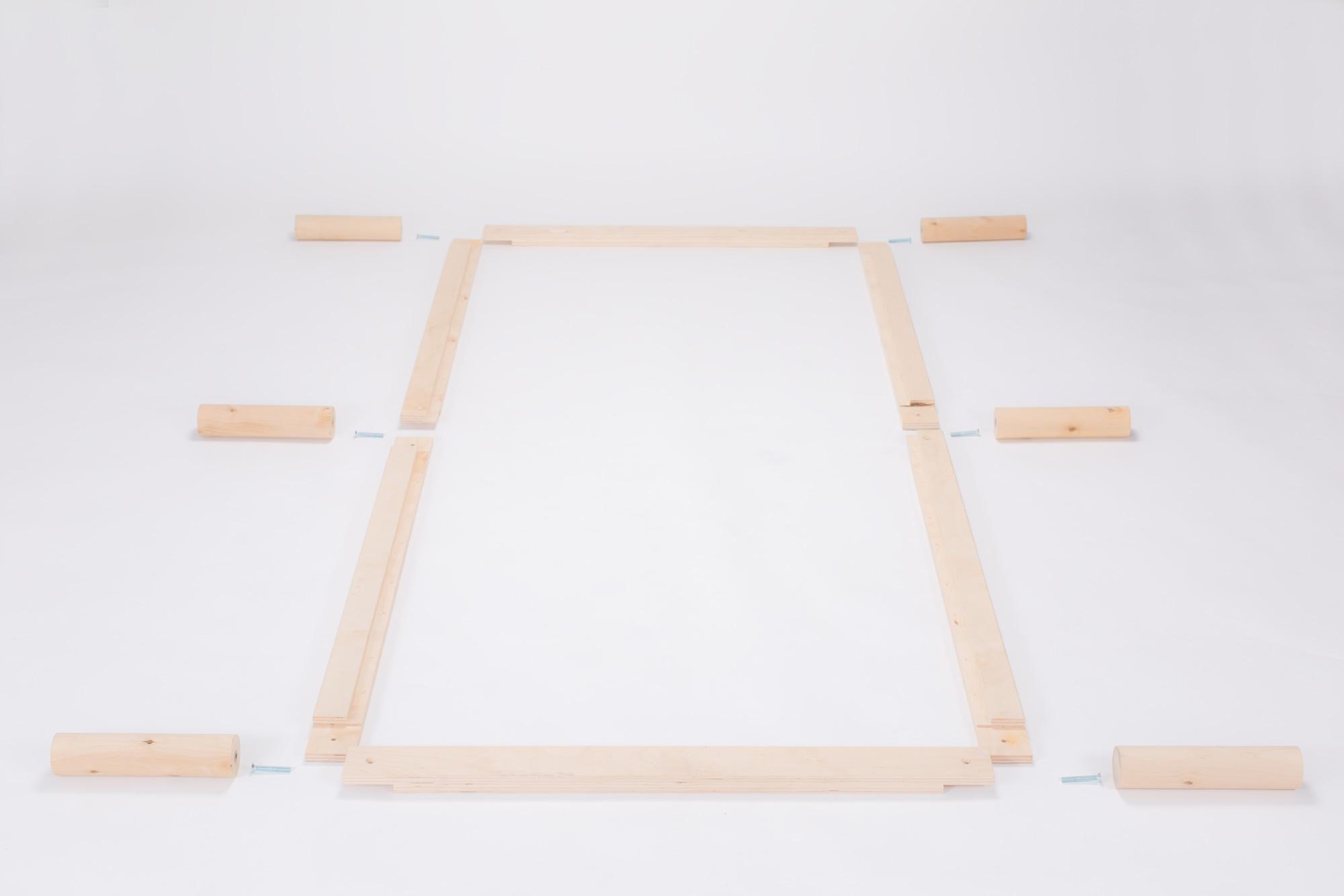 Gigapur G1 26875 Bett   Lattenrost und Bettgestell   Birke Natur Schicht-Holz   Bettrahmen belastbar bis 195 Kg   80 x 200 cm