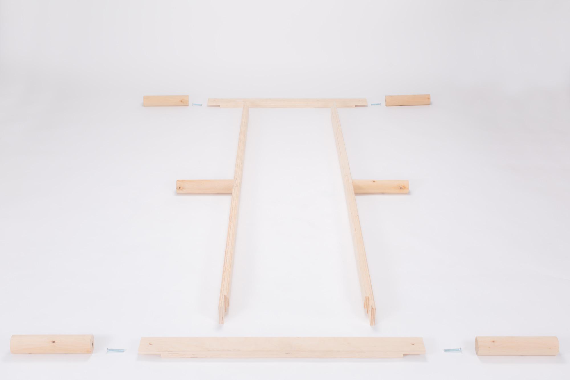 Gigapur G1 26899 Bett | Lattenrost und Bettgestell | Birke Natur Schicht-Holz | Bettrahmen belastbar bis 195 Kg | 70 x 200 cm