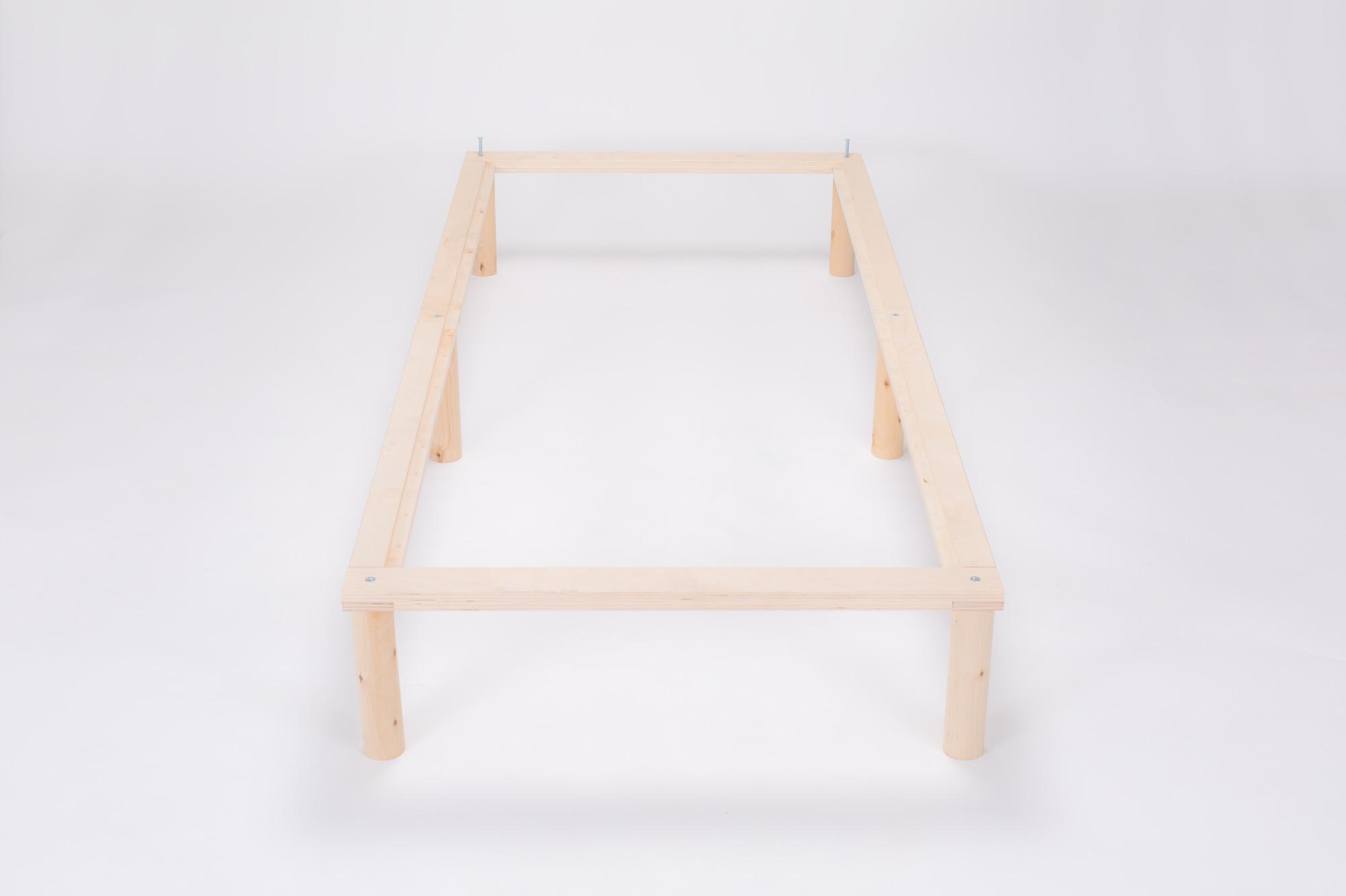 Gigapur G1 29760 Bett | Co-Sleeping | Birke Natur Schicht-Holz | Bettrahmen belastbar bis 195 kg | 250 x 200 cm (1 x 70 x 200 cm + 2 x 90 x 200 cm)